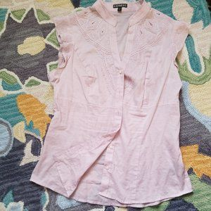 Pink Layering Button Down